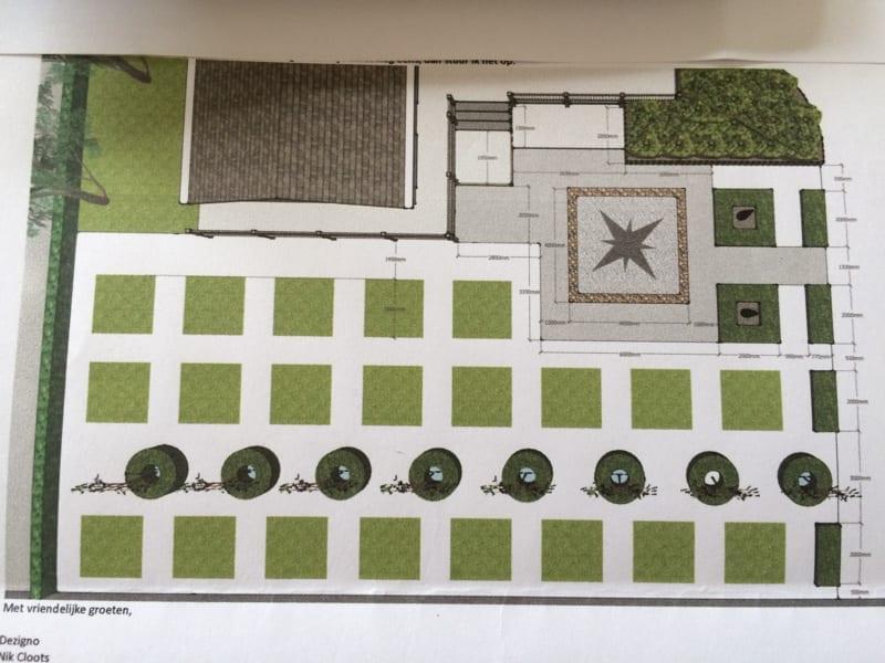 Plan voor tuinverbouwing